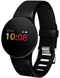 GPS Actividad Pulsera Monitor de ritmo cardíaco Podómetros Calorías Monitor Mensaje Mensaje Móvil Bluetooth Pulsera para hombres, mujeres y niños.