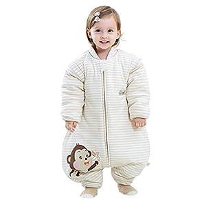 Emmala Saco De Dormir para Bebé Casual Chic 3.5 TOG Saco De Dormir De Invierno con Mangas Desmontables Saco De Dormir De…