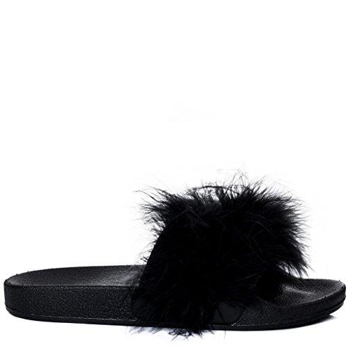 SPYLOVEBUY ELESIA Damen Pantoletten Flache Sandalen Schuhe Pumps