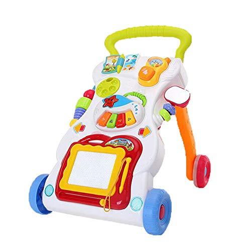 Persevering Melody - Toy Baby Steps Activity Walker Spielzeug Multifunktionaler Musikalischer Stand Learning Walker Geburtstagsgeschenk Für Baby-Jungen Und Mädchen
