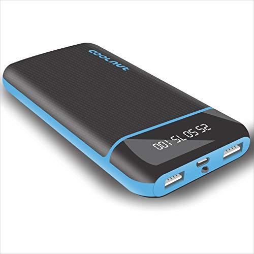 Coolnut CMPBAND-53 20000mAh Power Bank With Dual USB Charging Port, Flashlight & LED Indicator (Black)
