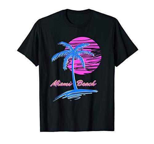 Miami Beach Retro 80s Aesthetic Vaporwave Synthwave Outrun T-Shirt
