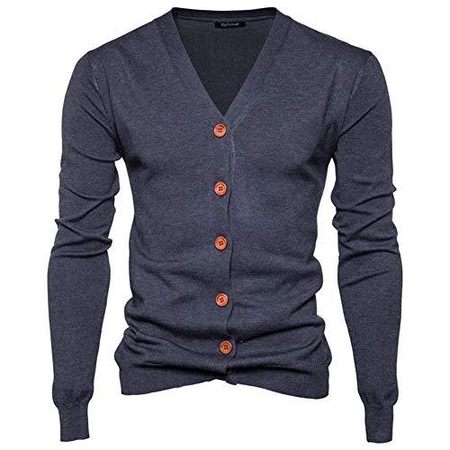Preisvergleich Produktbild Swallowuk Herren Strickjacke Vintage Herbst Winter Warm Slim Fit Strickpullover Männer Jacke Mantel Open Cardigan V-Ausschnitt Sweatshirt Outwear Knitwear (XXL