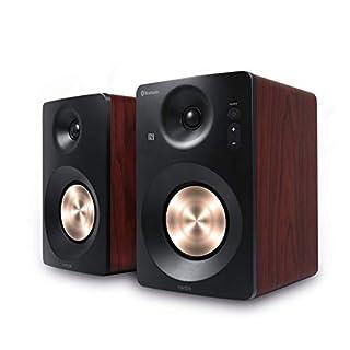 HAISER HSR 120 BT | 60 Watt RMS Aktiv Studio-Lautsprecher mit • Bluetooth • NFC • Boxen • Neodym | Studio-Monitore Aktiv-Lautsprecher-System Regal-Lautsprecher Multimedia-Monitore PC-Lautsprecher
