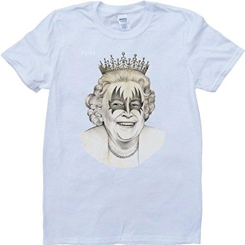 Königin Kuss Weiß Benutzerdefinierten Gemacht T-Shirt Weiß