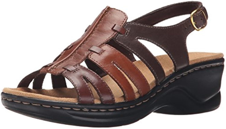 CLARKS Wouomo Lexi Marioro Q Marronee Multi Multi Multi Leather Sandal 7 A - Narrow | Usato in durabilità  d8b7b1