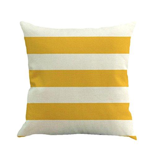 Stripe Malerei Leinen Kissen Tasche Kissen Sofa zuhause Dekor By Dragon (Gelb)