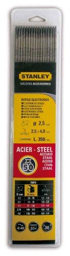 Stanley 460825 - Electrodos para soldadura (50 unidades, diámetro: 2,5 mm)
