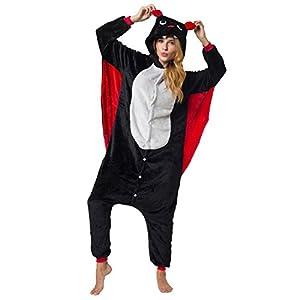 Katara-(10+ Modelos) Kigurumi Pijamas Disfraz Animal Halloween Adultos, Color murciélago, Talla 175-185cm (1744)