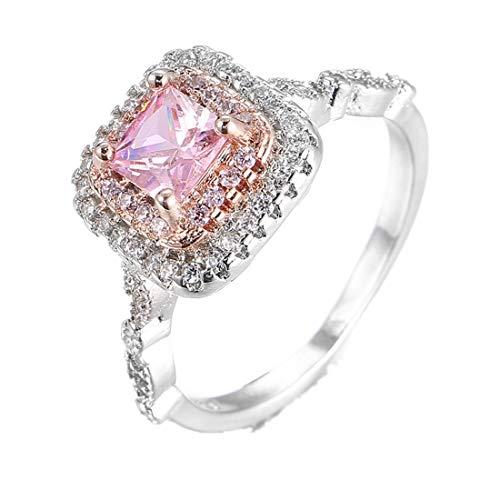 Micro-Set Diamantring Quadratischer Ring YunYoud stahlringe billige ringe holzringe doppelring trauring filigrane steinchen echtschmuck keramik echt edelsteinringe silberschmuck