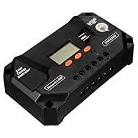 Atoz prime 12/24V PWM Solar Panel Battery Regulator Charge Controller with Double USB [60A]