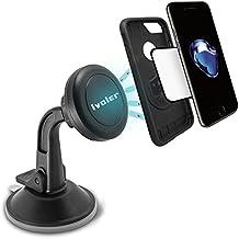 iVoler Supporto Magnetico Auto Universale Adesivo su Cruscotto Parabrezza, Porta Cellulare Auto Ventosa 360 Gradi di Rotazione per IPhone 7 / 7plus / 6 / 6plus /5 /5S / 5C, Samsung Galaxy S6 / S6 Edge / S5 / S4, Sony / Nexus / LG G5 / Huawei / HTC Ecc- Colore Nero - Porta Posteriore