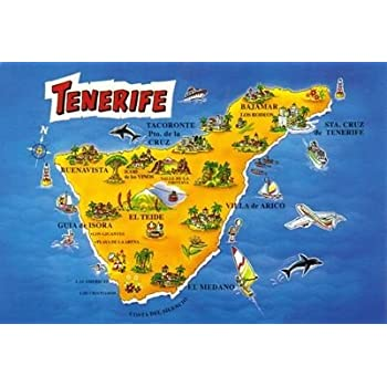 Map Of Spain Tenerife.Large Map Of Tenerife Spain Fridge Magnet Photo Fridge Magnet