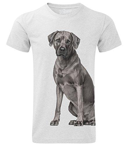 Siviwonder Unisex T-Shirt RHODESIAN RIDGEBACK Hund Sommershirt Hunde White
