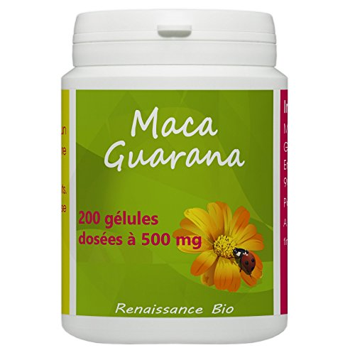 Maca - Guarana - 500 mg - 200 gélules