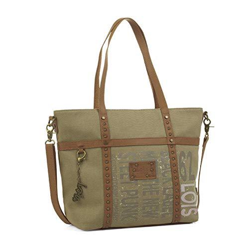 Lois - Bolso de Mujer Grande Tipo Shopping. Asas de Mano Largas. Ideal para Viaje Compras o Paseo....