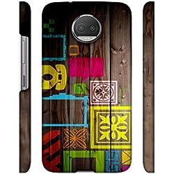 Casotec Stamps on Wooden Texture Design 3D Printed Hard Back Case Cover for Motorola Moto G5s Plus