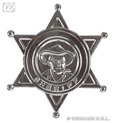 Sheriff Stern aus Metall zum Wilder Westen Cowboy Kostüm (Star Kostüme Ideen)