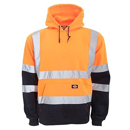 Dickies - Felpa Alta visibilità Due Colori con Cappuccio - Uomo Arancione/Blu