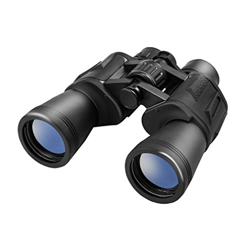 LESHP 10x50 FMC Prismáticos Ideales para observación de aves, acampada, caza, ópera, conciertos, deportes, visitas turísticas, visita de negocios etc.
