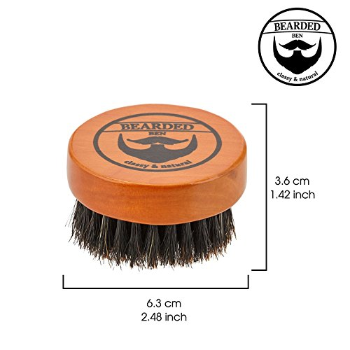 BEARDED BEN Bartbürste mit Wildschweinborsten und Aufbewahrungsbox Abbildung 3