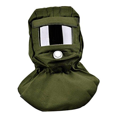 B Blesiya Diunkelgrün Sandstrahler Sandstrahlhaube Maske Anti Wind Schutzmaske Helm Schutz