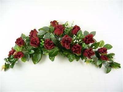 Rose Gypso d'eucalyptus fleurs artificielles en soie Swag/Centre de table