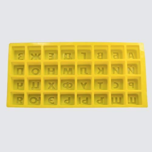 WANGTGG russische Alphabet Buchstaben silikonform EIS Fondant backformen backform DIY Kuchen dekorieren Tools (Süßigkeiten Halloween Brief Keine)