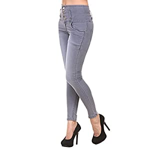 Generic Women's Denim Slim Fit Jeans with 5 Button 2