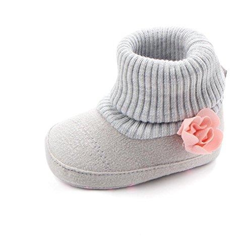 Zapatos De Bebé Botas de Cuna de Flores de bebé recién Nacido Patucos niñas Niños Primeros Pasos...