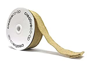 1.5 Inches Wide Burlap Ribbon on Spool - 10 yards