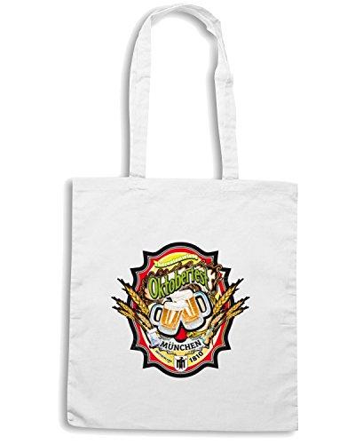 T-Shirtshock - Borsa Shopping BEER0104 oktoberfest munchen Bianco