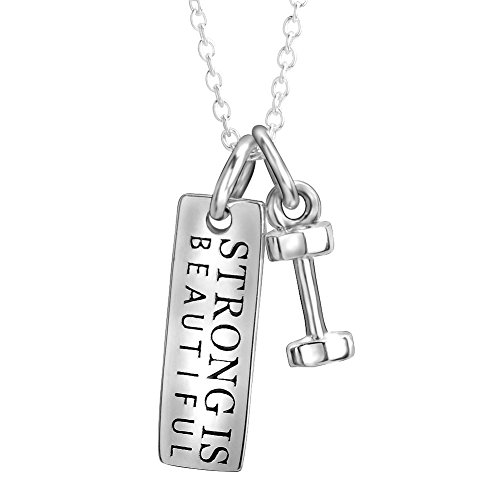silver-mountain-sterling-silver-inspirational-engraved-strong-is-beautiful-letters-dumbbell-pendant-