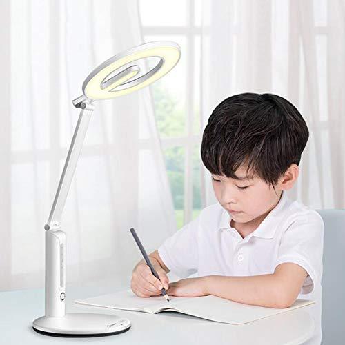 Qzny Schreibtisch Lampen, Mit Augenschutz, Fünfstufiges Dimmen, Tisch Licht, Nachttischlampe, Energieeffizient, Schüler Licht, Kinder-, Schlafzimmer Lampe, Leselicht, Arbeit, Studium - Gooseneck Schreibtisch-tisch-lampe