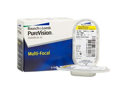 Purevision Multifocal Monatslinsen weich, 6 Stück / BC 8.6 mm / DIA 14.0 / HIGH ADD / -4,25 Dioptrien