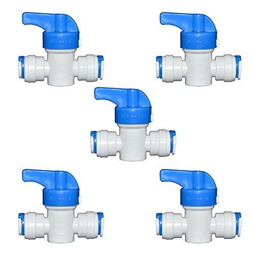 ueetek 5pcs gleiches droite OD tuyau de la Boule Valve de robinet eau Système de fixation 1/4 \