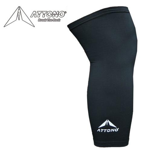 Fahrrad Knielinge Beinlinge von ATTONO Mountainbike Thermo Knie Beinwärmer