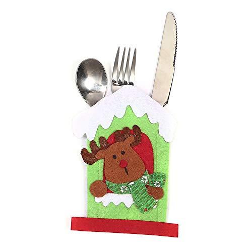 (ICNCVKX weihnachten Weihnachtsmesser und Gabel Weihnachtsdekorationen gesetzt)