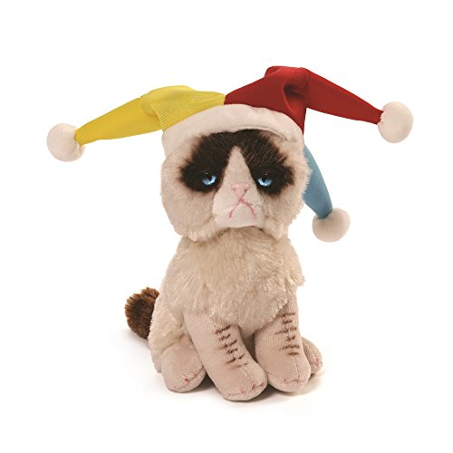 Gund Grumpy Cat Jester Beanbag Stuffed Animal Plush