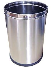 "PARASNATH Stainless Steel Plain Open Dustbin 5 litre (7""x10"")"