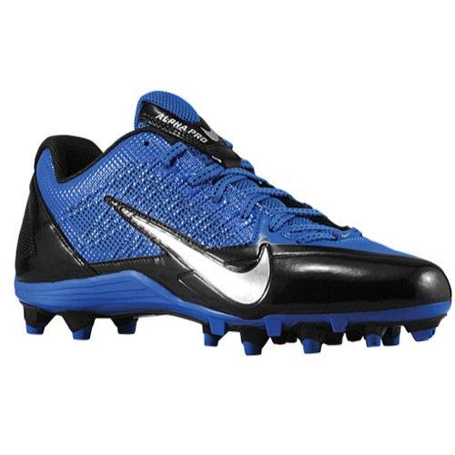 Nike , Herren American Football Schuhe Black/Metallic Silver/Sport Royal