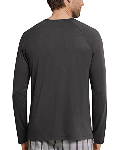 Schiesser Herren Shirt langarm 158452 Anthrazit