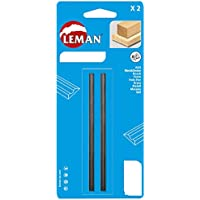 Leman 142.780.02 - Pack de 2 cuchillas de cepillo (MD 80 x 5,5 x 1,1 mm)