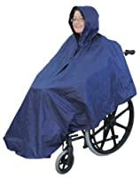 Waterproof wheelchair mac cape poncho with hood