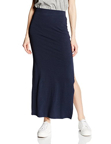 VILA CLOTHES Damen Rock VIHONESTY NEW SLIT SKIRT-NOOS 14032809, Maxi, Gr. 34 (Herstellergröße: XS), Blau (Total Eclipse)