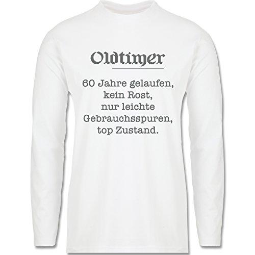Geburtstag - 60. Geburtstag Oldtimer Fun Geschenk - Longsleeve / langärmeliges T-Shirt für Herren Weiß