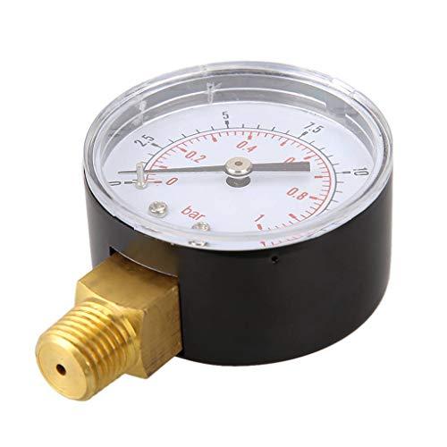 Level 0-15psi 0-1bar BSPT 50mm Wasserdruckmessgerät Gewindemontage Öldruckmesser Luftkompressor Manometer Tester -