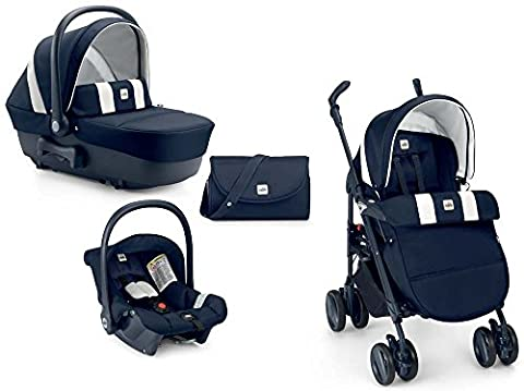 Cam Il mondo del bambino 784015/565 Système modulaire Combi Tris (poussette, couffin, siège-auto) Bleu/blanc