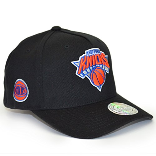 super popular aec93 e44c1 Mitchell   Ness Homme Casquettes   Casquette Snapback   Strapback Curved NY  Knicks noir Réglable