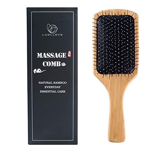 Cepillo Bambu,LUOLLOVE Cepillo Pelo Cerdas Naturales,Hair